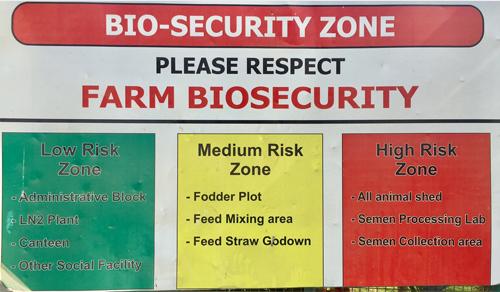 Central Semen Station Bio Security Measures